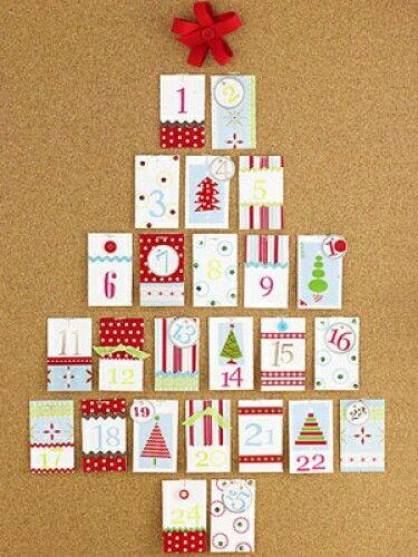 padres recortes calendario ideas de adviento calendarios de adviento ideas para unas vacaciones ideas navidad de navidad caja de cartn