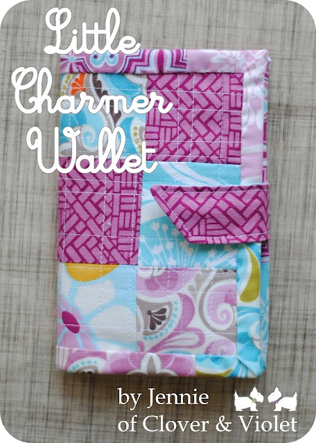 Clover and Violet: Little Charmer Wallet {tutorial} - Love the fabric!