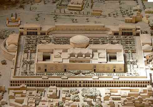Rome - The Baths of Caracalla, reconstruction.