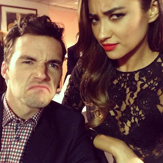 Ian Harding and Shay Mitchell