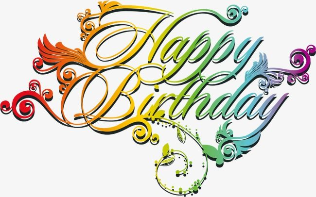 Vector Creative Happy Birthday Wordart Birthday Clipart Creative