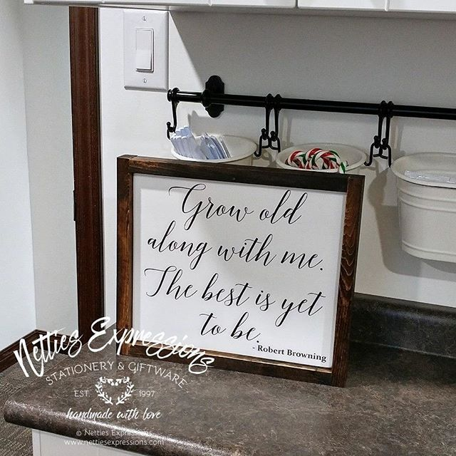 This saying is available in a larger sign, but was requested as a 10 x 12 framed wood sign.  This sign is painted with@fusionmineralpaintand stained with@minwaxcanadaDark Walnut.  #nettiesexpressions#handmadewithlove #madewithlove#handmadeincanada