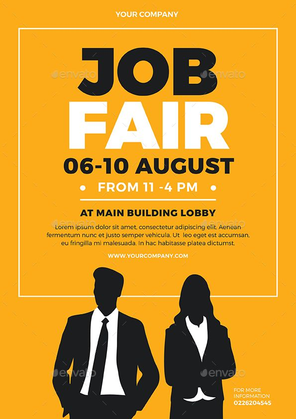 Job Fair Flyer #Ad #Job, #SPONSORED, #Fair, #Flyer | Job ...