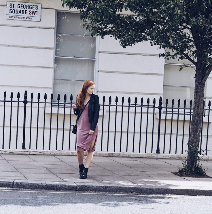 Dressing out of your comfort zone | Topshop cupro slip dress