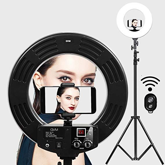 Ring Light Gvm 14 Inch Led With Light Stand 36w 5500k Lighting Kit For Makeup Camera Smartphone Youtube Selfie Ring Light Led Ring Light Ring Light Photography
