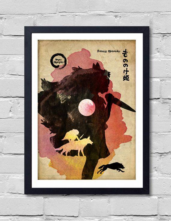 Princes Mononoke. Poster by POSTERSHOT on Etsy