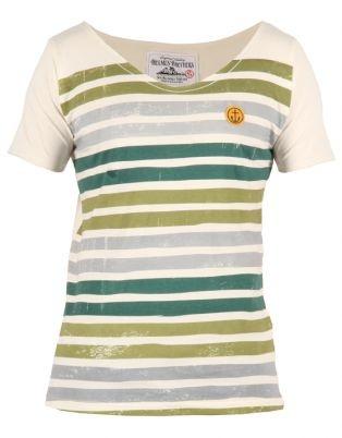 Holmes Bros Mens Striped Vintage T-Shirt