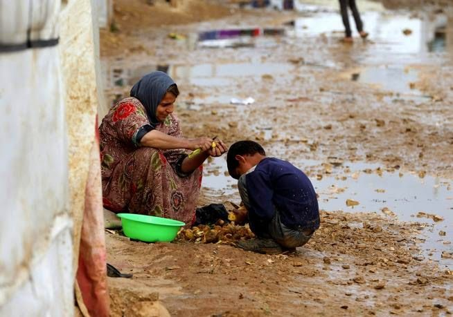 #Syrian #refugees in #Lebanon panicked Tuesday over news that the #UnitedNations suspended #food aid to 1.7 million refugees because of a lack of funds, a decision that officials said threatens to #starve thousands of #families and add pressure on the strained host countries.