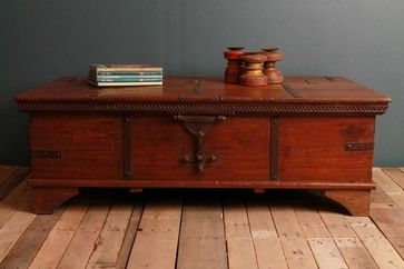 Antique Indian Wedding Trunk eclectic coffee tables