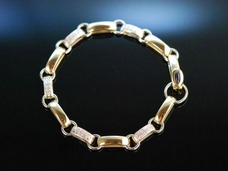 Sehr edel! Schweres Armband 26 Gramm Gold 585 Brillanten und Saphir