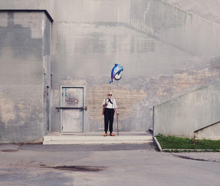 Balloon man - surreal photography