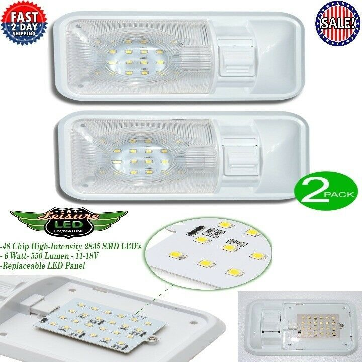 Sponsored Ebay Led 2 Pack 12v Ceiling Dome Light Rv Switch Interior Lighting For Trailer Camper Ceiling Domes Dome Lighting Interior Lighting