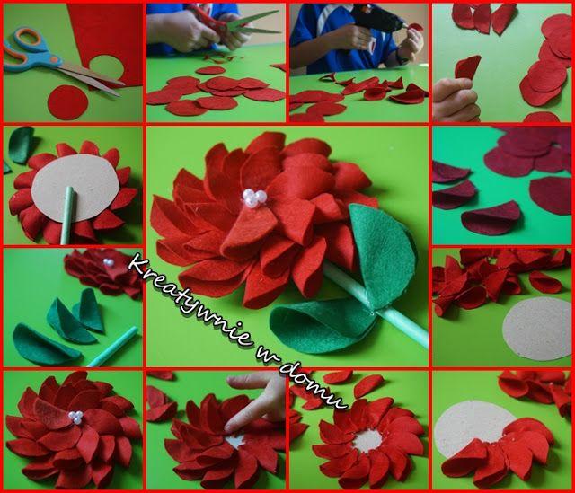 Kwiatek Dla Babci Kreatywnie W Domu Spring Crafts Paper Crafts Crafts