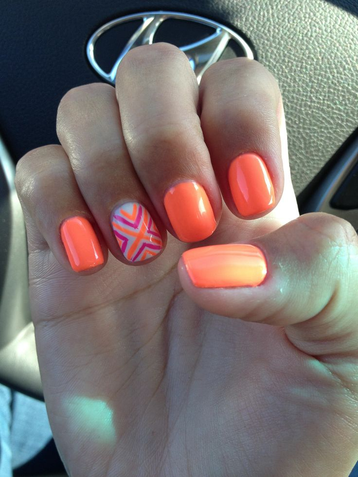 Summer Nail Trends 2018: 145 Best Images About Orange Nail Art On Pinterest