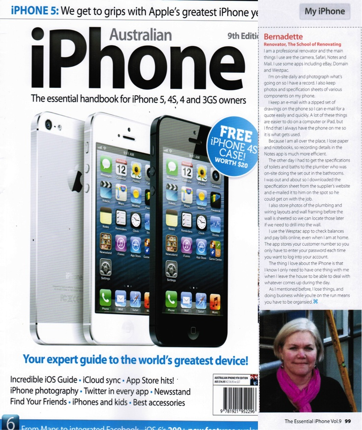 Our Article In Aus Iphone Mag- how iphone helps my renovating