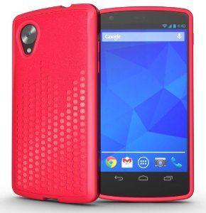 TUDIA Ultra Slim Melody TPU Bumper Protective Case for Google Nexus 5 (Pink)