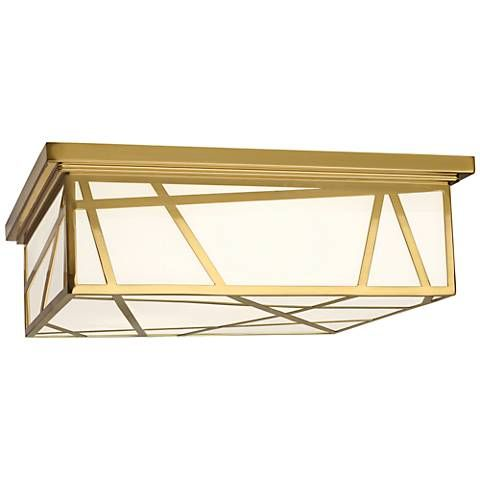 "Michael Berman Bond 17 1/2"" Wide Modern Brass Ceiling Light"