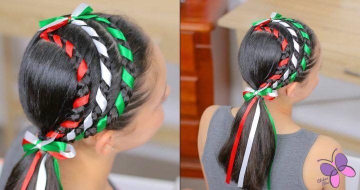 Trenzas Mexicanas Peinado Para Fiestas Mexicanas Trenzas Con Cinta Peinados Mexicanos Trenzas Con Listones
