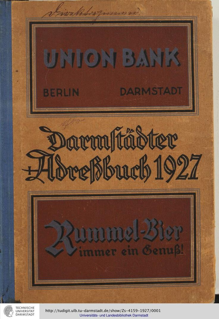 Adressbuch der Haupt- und Residenzstadt Darmstadt: [im Lauf der Jahre mit unterschiedlichen Titeln] (1927