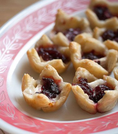 Quick & Easy Vegetarian Recipes - Brie and Cranberry Bites - Click Pic for 21 Healthy Vegetarian Recipes