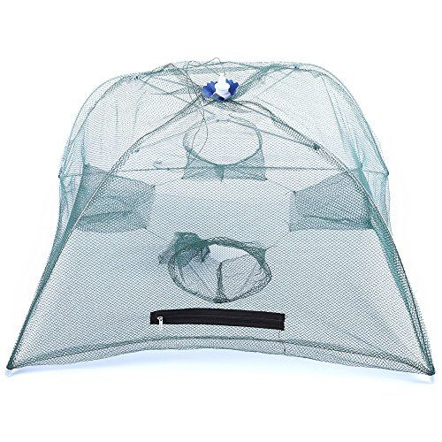 Telescopic 4 Side Bait Fishing Crabs Net Shrimp Cage Case Angling Outdoor Appliance Crab Fish Trap Cast:   Note: The color of zipper is random<br><br> Color: Light Green <br> Knot Type: Single <br> Length: 60.7cm / 23.9 inches <br> Mesh Size: Small Mesh <br> Plastic Type: PP <br> Positionable or Not: Yes <br> Retractable or Not: Yes <br> Style: MoNofilament <br> Thickness: 6mm <br> Type: Cast Net <br> With Glueing or Not: No<br> Package weight: 0.251 kg <br> Product Size(L x W x H): 60...
