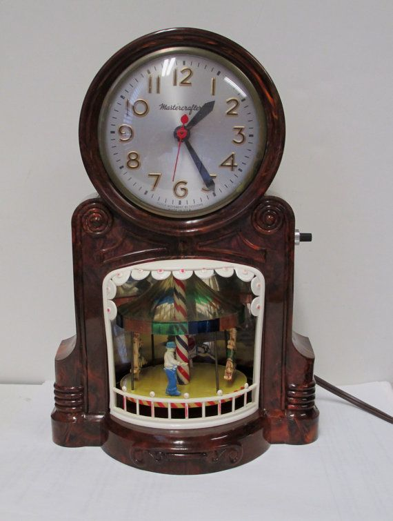 Vintage Mastercrafters Clock Merry Go Round Motion Model