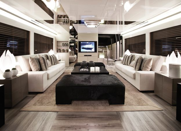 Pearl 75 by Kelly Hoppen (MBE) and Pearl Motor Yachts - short listed for the Yacht Interior Design Award in the International Yacht and Aviation Awards 2013...