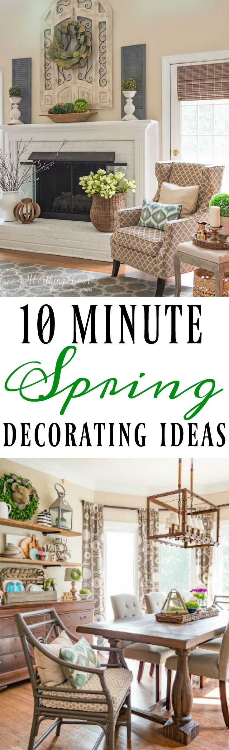10 minute spring decorating ideas #springdecor #springdecorations #spring