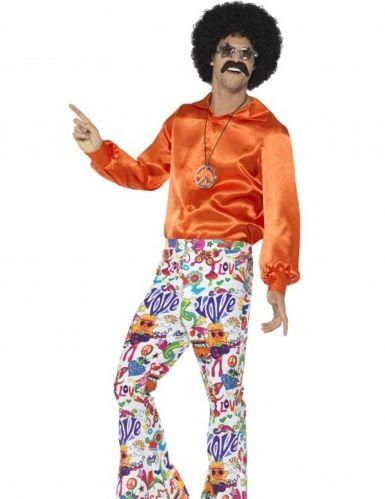 Pantalón hippie años 60 hombre