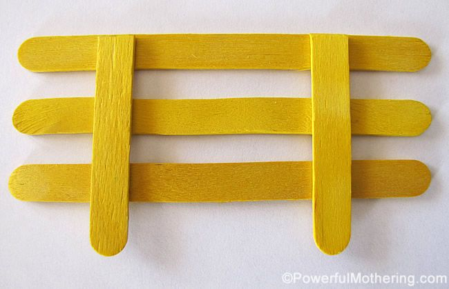 Popsicle Stick Fencing for Small World Play