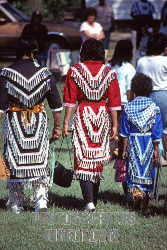 Ojibwe Jingle Dress Dancers Emo , Ontario stock photo