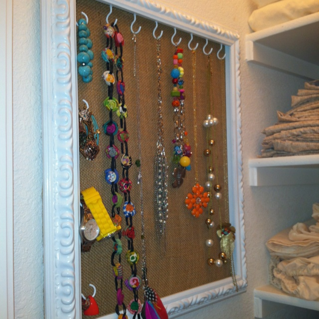My home made jewelry hanger!!!