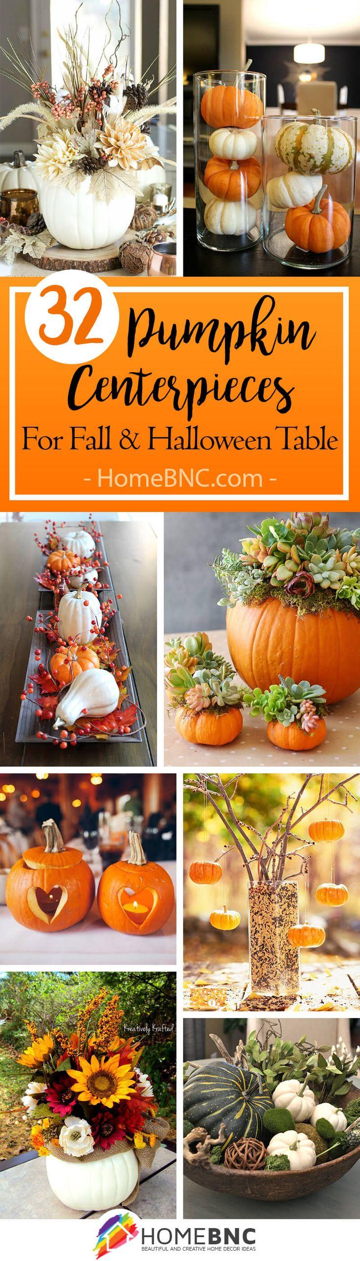 Pumpkin Centerpiece Decor Ideas