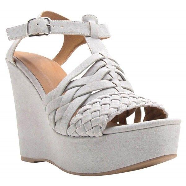 Women S Open Toe Braided Woven Ankle T Strap Platform Wedge Sandal Light Grey Cp189ikx0rh Platform Wedge Sandals Wedge Sandals Platform Wedges