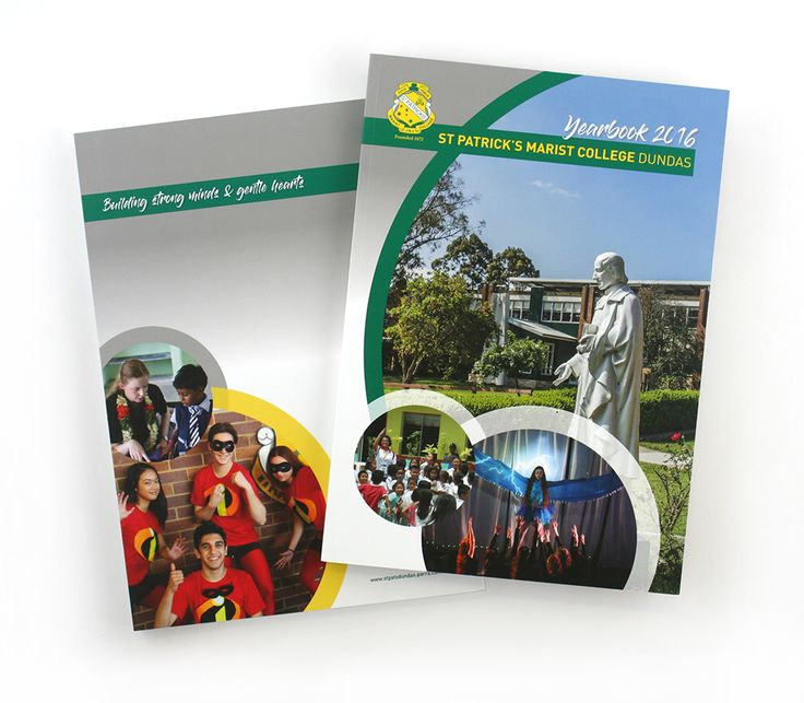 St Patrick's Marist College Dundas Yearbook – print production and cover design