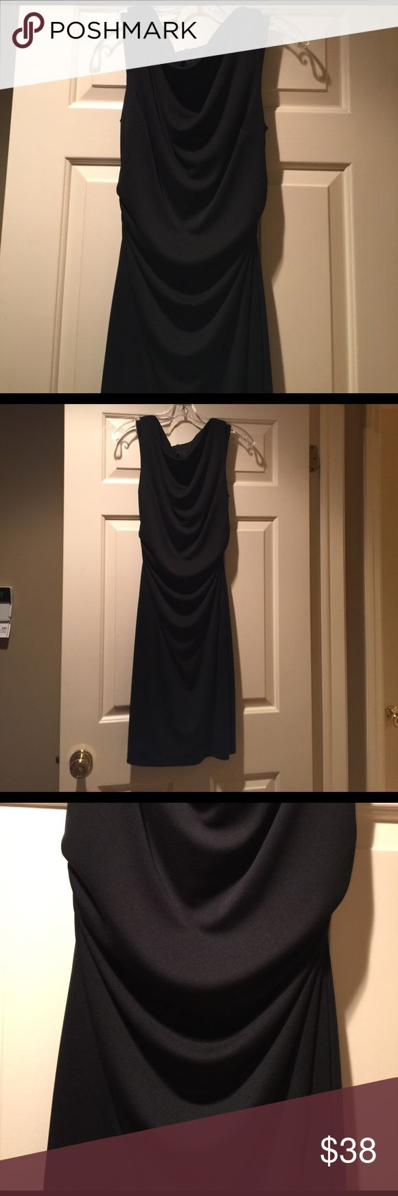 NWOT David Meister Elegant Black Dress - 6 Brand New Without Tags David Meister Black Elegant Dress that will carry you for years to many formal occasions! Size 6 with a draping style that is feminine.  Comfortable to wear as well. David Meister Dresses