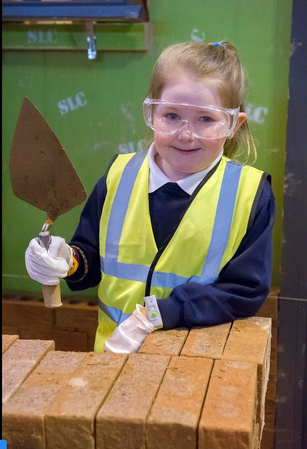 A bricklayer-to-be.