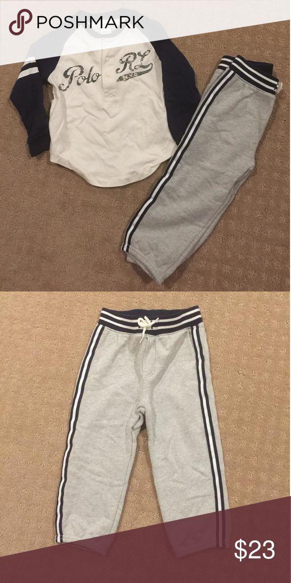 Polo sweatpants and shirt Polo sweatpants and baseball tee Polo Ralph Lauren  Matching Sets