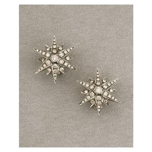 H Stern starburst earrings