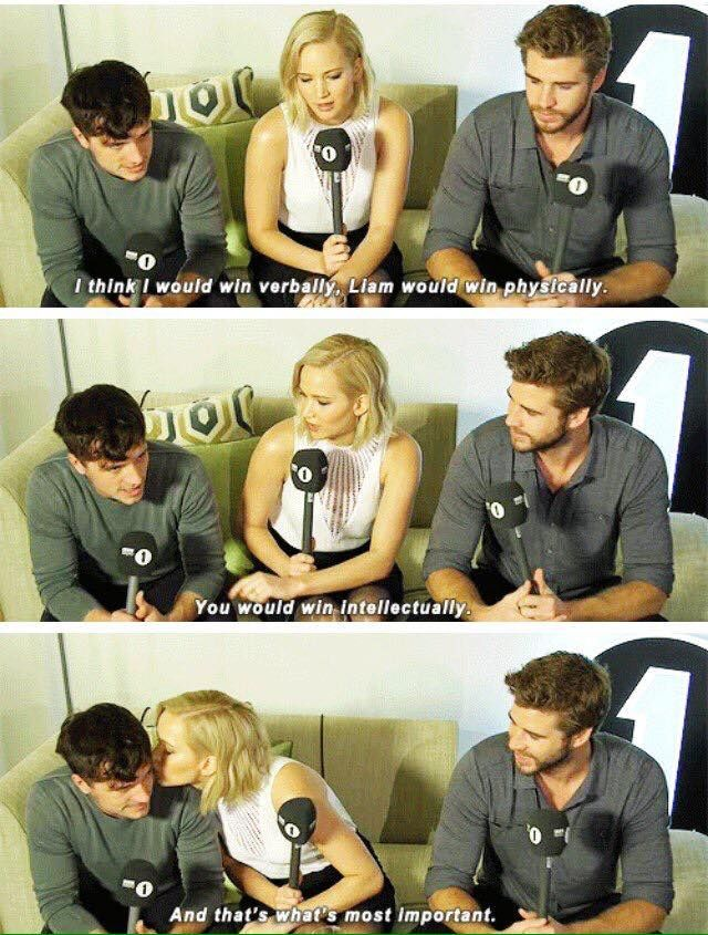 Hunger Games: Mockingjay - Part II interview - Josh Hutcherson, Jennifer Lawrence and Liam Hemsworth