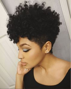Try The Tapered Cut Twist & Curl for a defined chic style on short natural hair