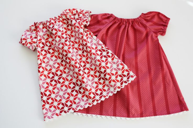 Infant Peasant Dress Free Pattern and Tutorial - Sew Much Ado (actual link for pattern and instructions)