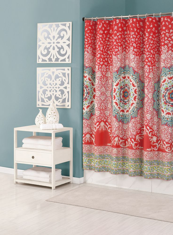Shower curtain from the Jessica Simpson Bath Collection.