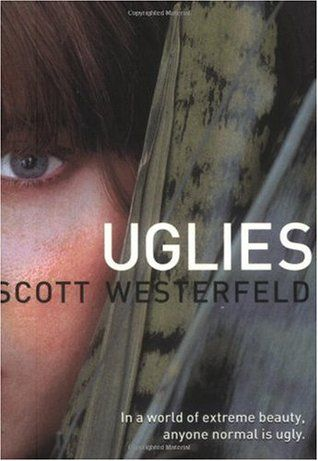 The Uglies series by Scott Westerfeld is four titles that are about a futuristic world where when girls turn 16, they have a special operation to deter ugliness and leads them to a life of a high-tech paradise.  The entire series is out, so one you get hooked to the Uglies, you'll be anxious to pick up Pretties, Specials and Extras!  If you're interested in knowing more, hop over to goodreads.com to learn about each of these unique novels