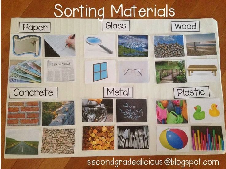 Secondgradealicious: Materials, Objects, and Everyday Structures....a Science Inquiry and sorting different materials