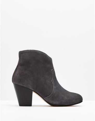 UPTON Women's Grey Suede Ankle Boots