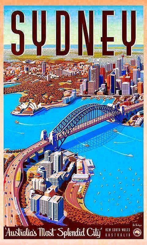 Sydney, Australia #Vintagetravelposters #VintageDestination