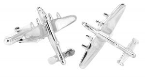 B52 bomber cufflinks in sterling silver - $270