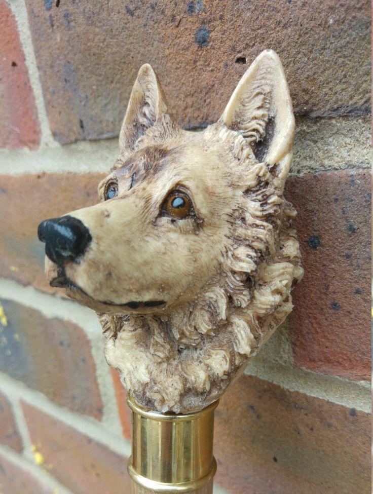 Hand painted Resin German Shepherd Head by MayflowerWoodCrafts