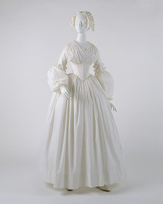 Dress  Date: ca. 1840 Culture: American Medium: cotton